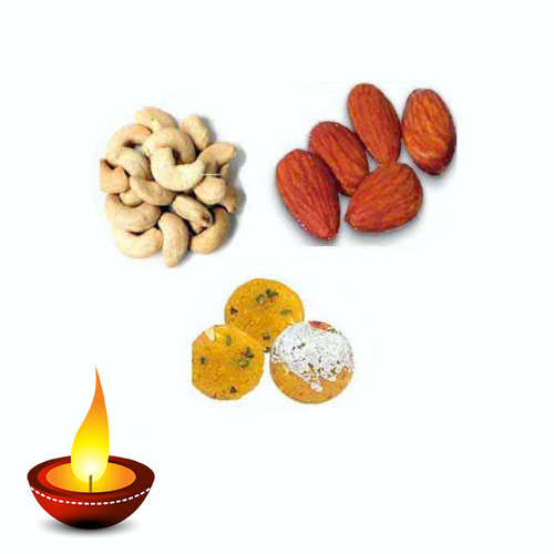Dry Fruits & Besan  Ladoo Hamper - 11048 - Canada Delivery Only