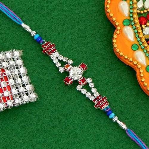 Fancy Diamond Cut Stone Rakhi