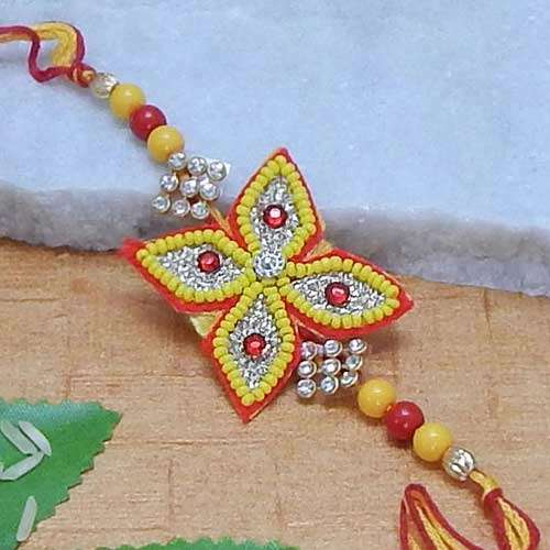 Beautiful Flower Beads Rakhi