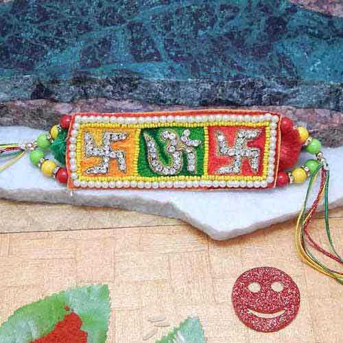 Divine Om Swastika Rakhi - Add On