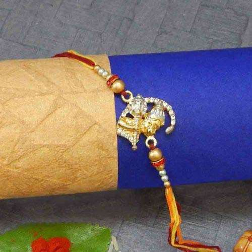 Diamond Lord Hanumaan Rakhi - UK Delivery Only