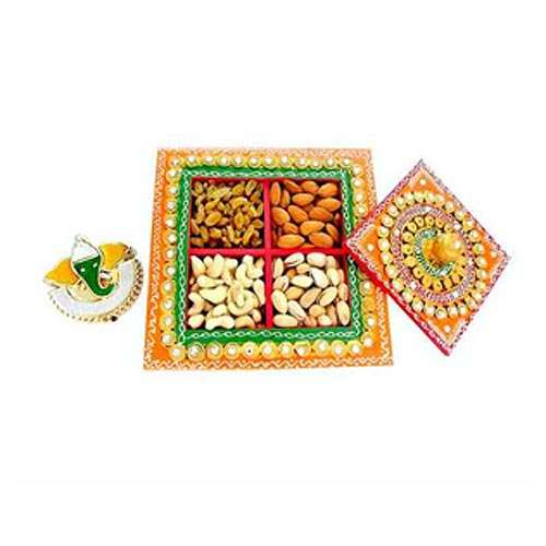 Square Box with Mix dry fruits  400 gm - AUSTRALIA Only