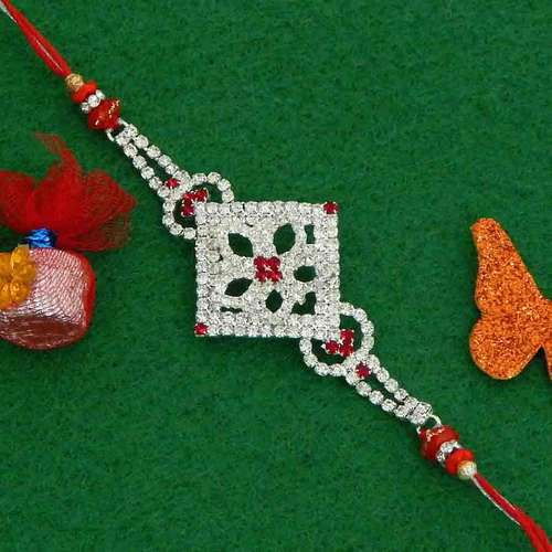 Exquisite Diamond Studded Rakhi