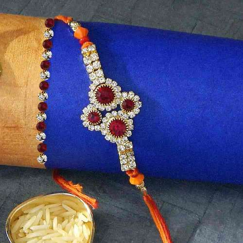 Heartfelt Floral Rakhi Thread - USA Delivery Only