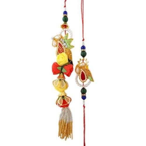 Adorable Rakhi Lumba Set -  USA Delivery Only