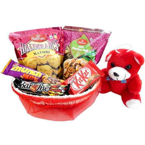 Hamper With Teddy Bear & Basket -  02