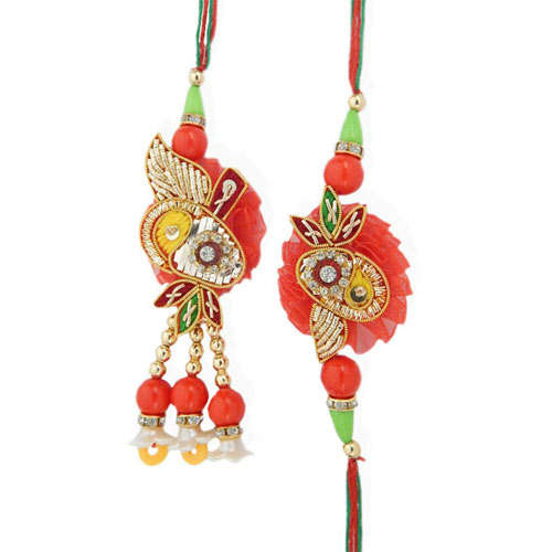 Eminent Rakhi Lumba Set - USA Delivery Only