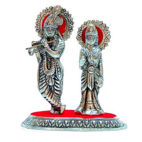 Lord Radha Krishna Playing Flute - ak-510335 - USA Delivery Only