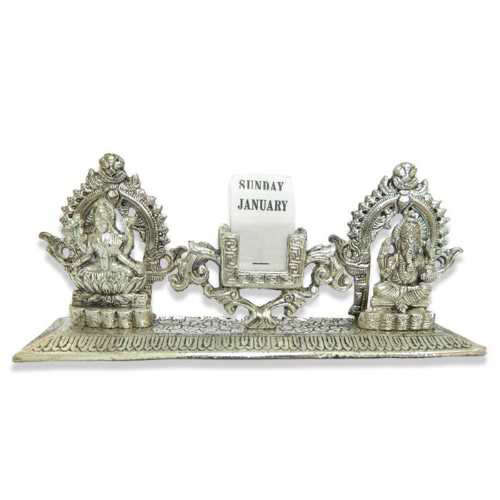 Lord Ganesh Lakshmi Table Calender - 11035 - USA Delivery Only