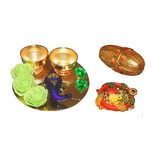 Lord Ganesh Small Puja Thali - Australia Delivery Only