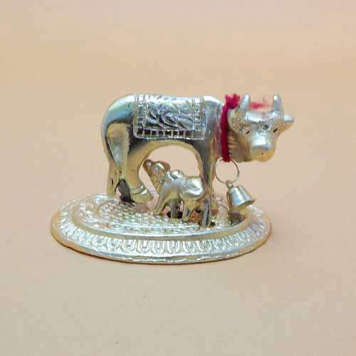 Small White Metal Cow - Australia Delivery Only