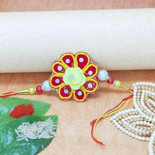 Floral Beads Rakhi - UK Delivery Only