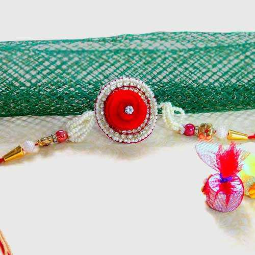 Pretty Pearl Rakhi - UK Delivery Only