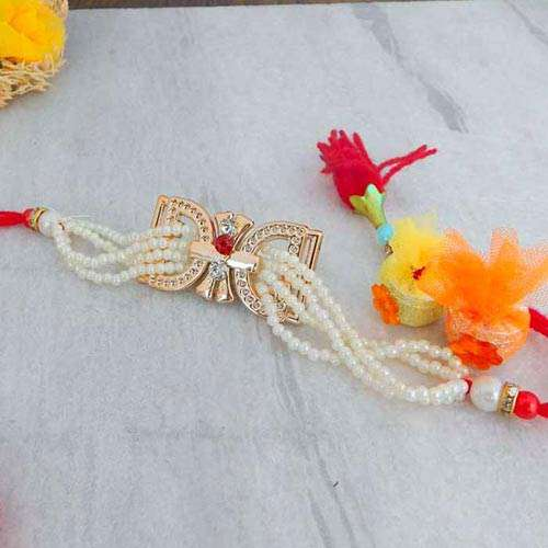 Alluring Pearl Rakhi - USA Delivery Only