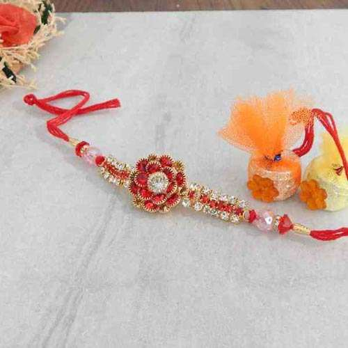 Attracting Floral Rakhi - USA Delivery Only