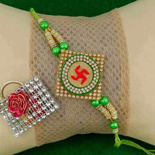 Spiritual Swastik Rakhi  -  UK Delivery Only