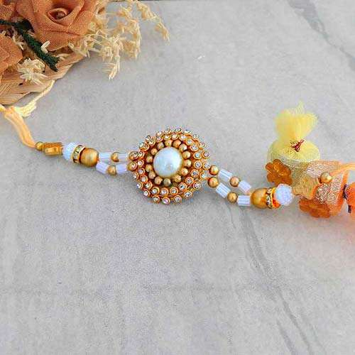 Graceful Floral Rakhi - CANADA Delivery Only