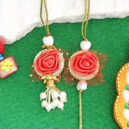 Rapturous Floral Rakhi Lumba - USA Delivery Only
