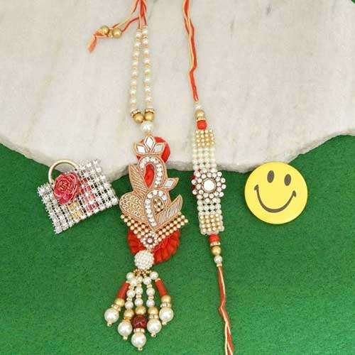 A Fetching Rakhi Lumba Set - CANADA Delivery Only