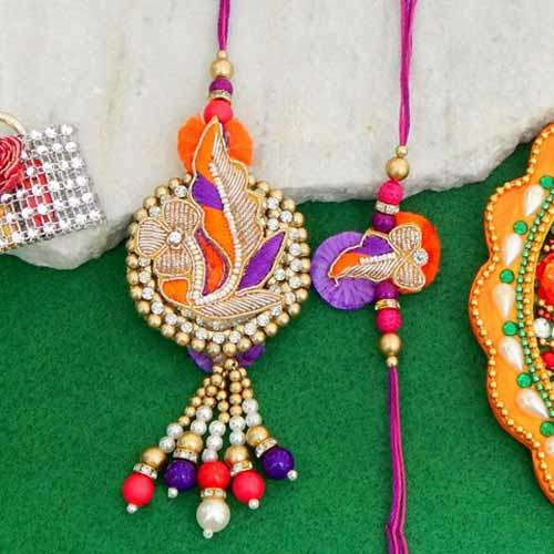 Charismatic Rakhi Lumba Set - 4 - UK Delivery Only