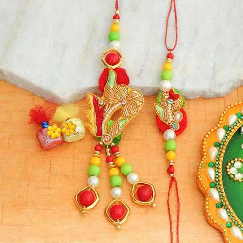 Stylized Rakhi Lumba Set - Australia Delivery Only