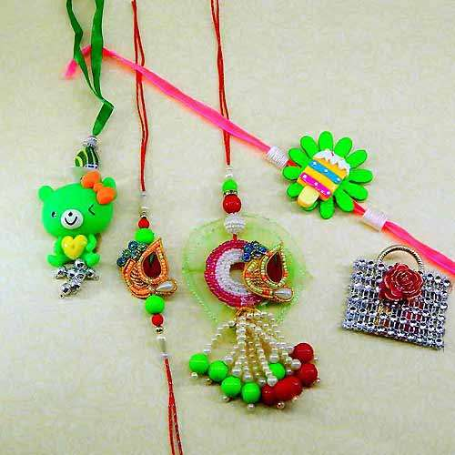 Family Rakhi Set - 10 - USA Delivery Only