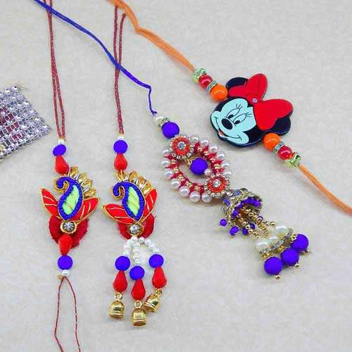 Family Rakhi Set - 12 - USA Delivery Only