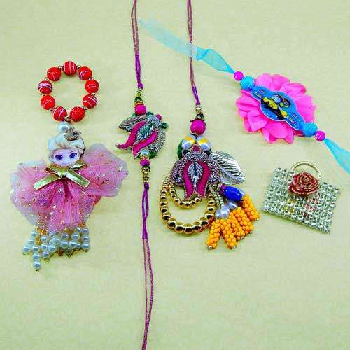 Family Rakhi  Set - 08 - CANADA Delivery Only