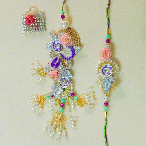 Exquisite Rakhi Lumba Set - 2 - CANADA Delivery Only