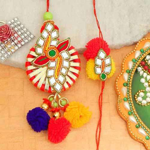 Glorious Rakhi Lumba Set - 2 - Australia Delivery Only