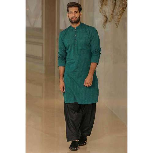 Bottel Green Kurta for Men