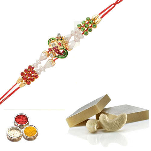Rakhi With Kaju Barfi 250gms