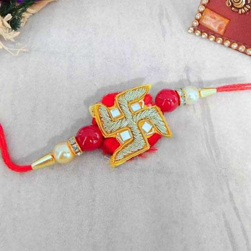 Swastik Rakhi - USA Delivery Only