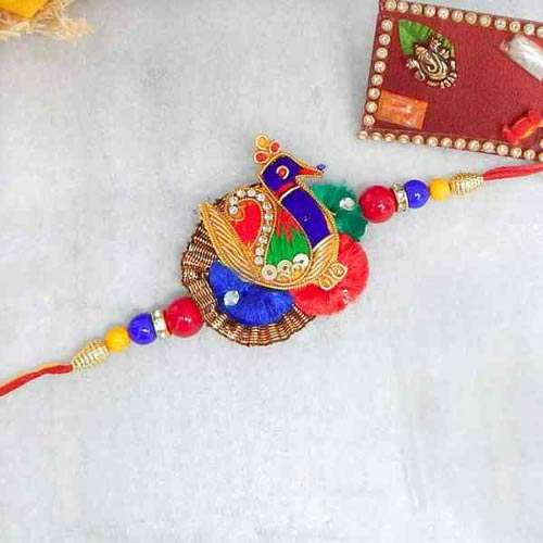 Beautiful Peacock Rakhi - USA delivery Only
