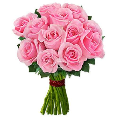 One Dozen Pink Roses - Thailand Delivery Only