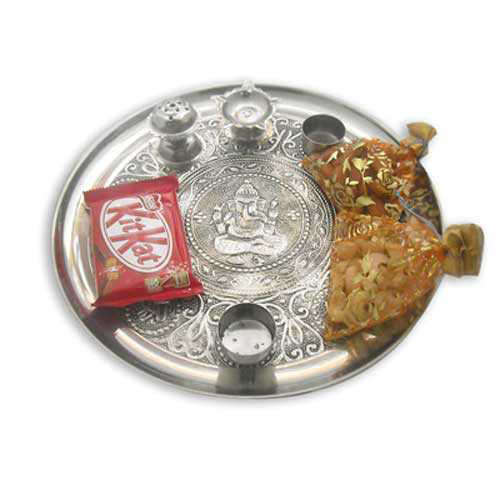 Lord Ganesh Pooja Thali - 10610 - Canada Delivery