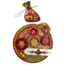Ganesh Puja Thali With Dry Fruits - INDIA TO UK DELIVERY